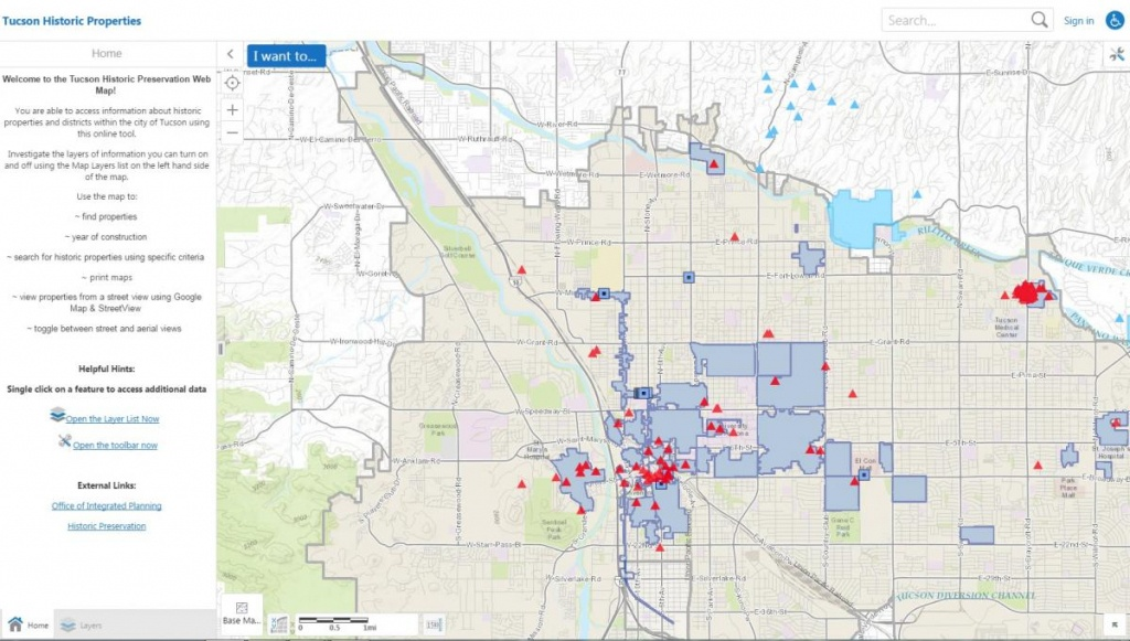 Online Resources | Official Website Of The City Of Tucson - Printable Map Of Tucson Az