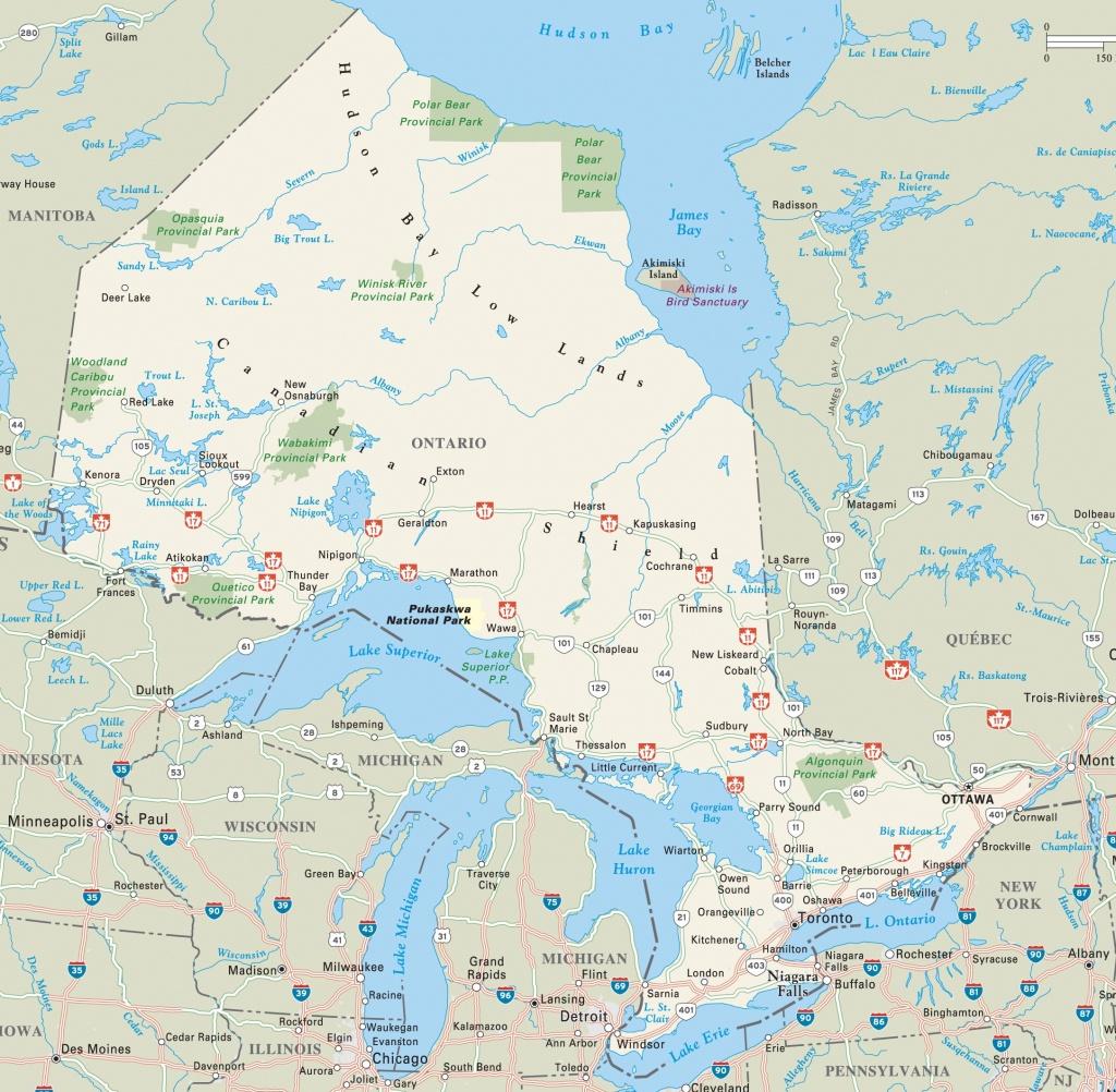 Ontario Highway Map - Free Printable Map Of Ontario
