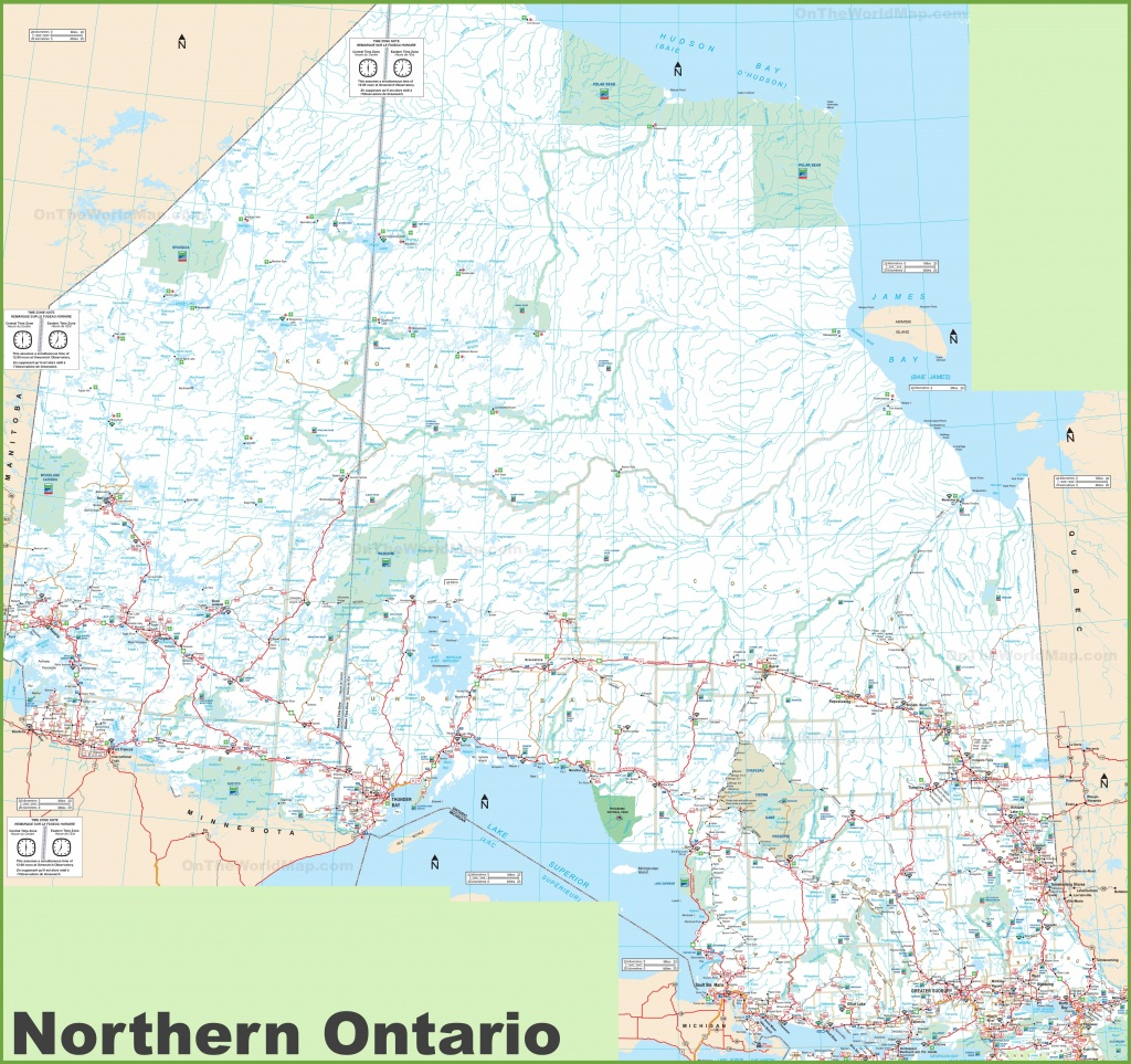 Ontario Province Maps   Canada   Maps Of Ontario (On, Ont) - Free Printable Map Of Ontario