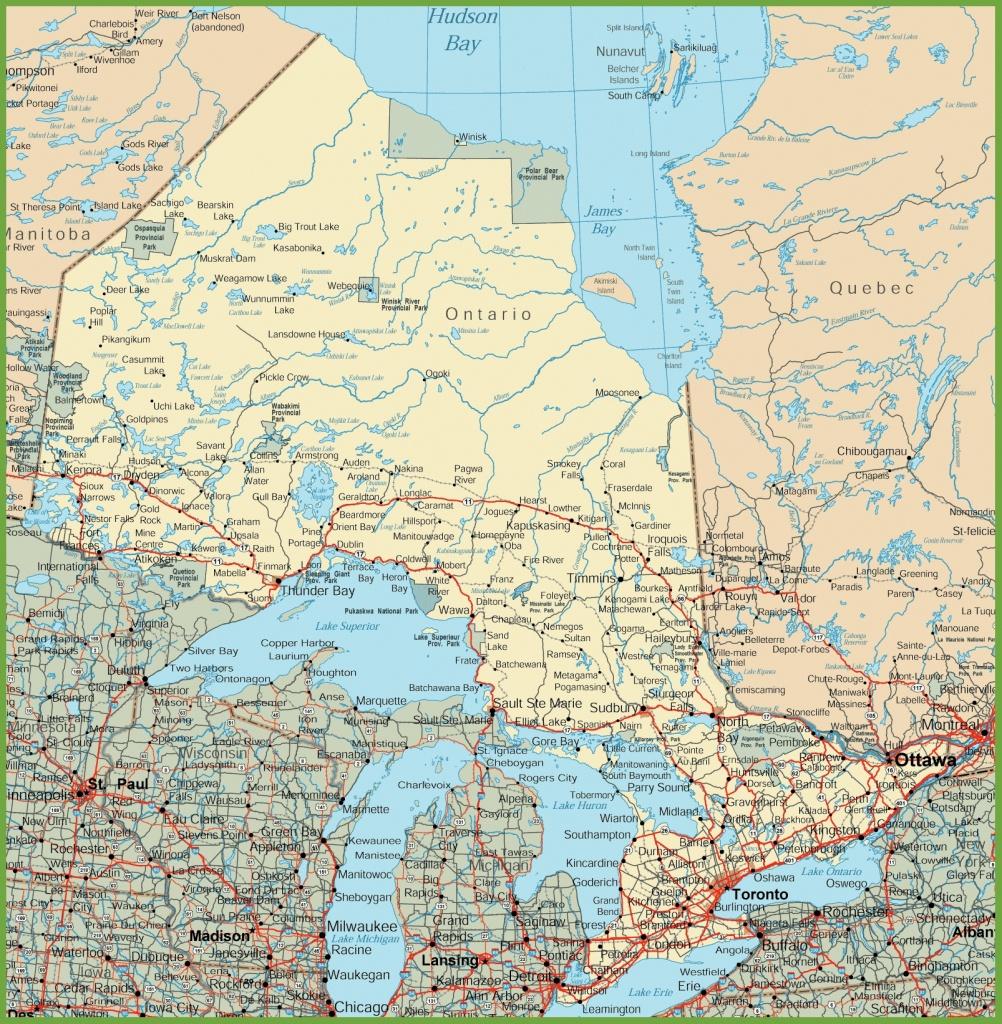 Ontario Road Map - Free Printable Map Of Ontario