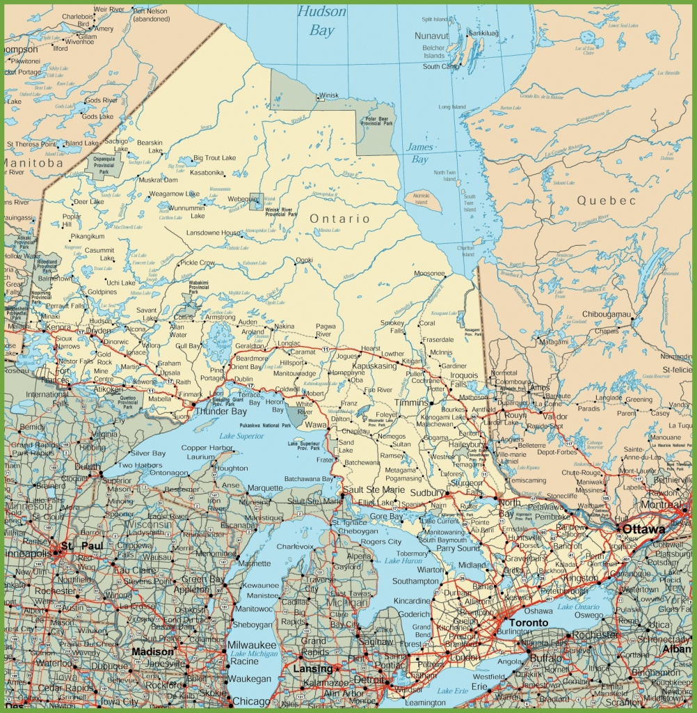 Ontario Road Map - Printable Map Of Ontario
