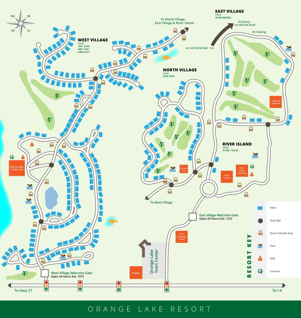 Orange Lake Resort Map, Orlando, Florida - Florida Resorts Map