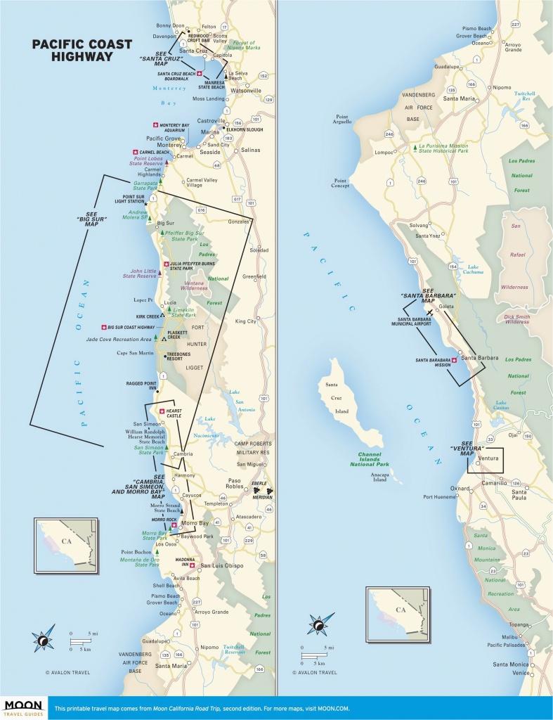 Oregon West Coast Map Map Of West Coast Of California Printable Map - Printable Map Of California Coast