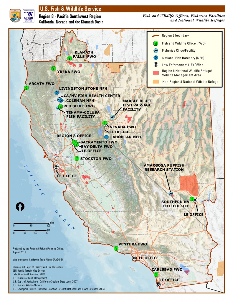 Organization And Offices | Pacific Southwest Region - California Fishing Map