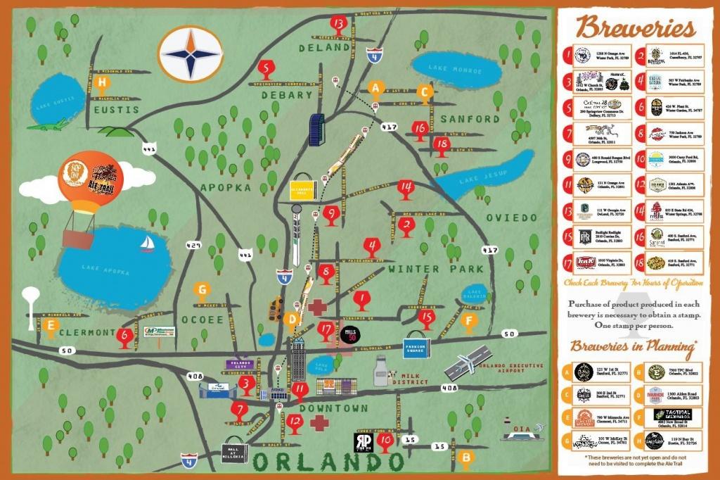 Orlando Brewery Guide - Brewintel | Road Trippin In 2019 | Orlando - Central Florida Ale Trail Map