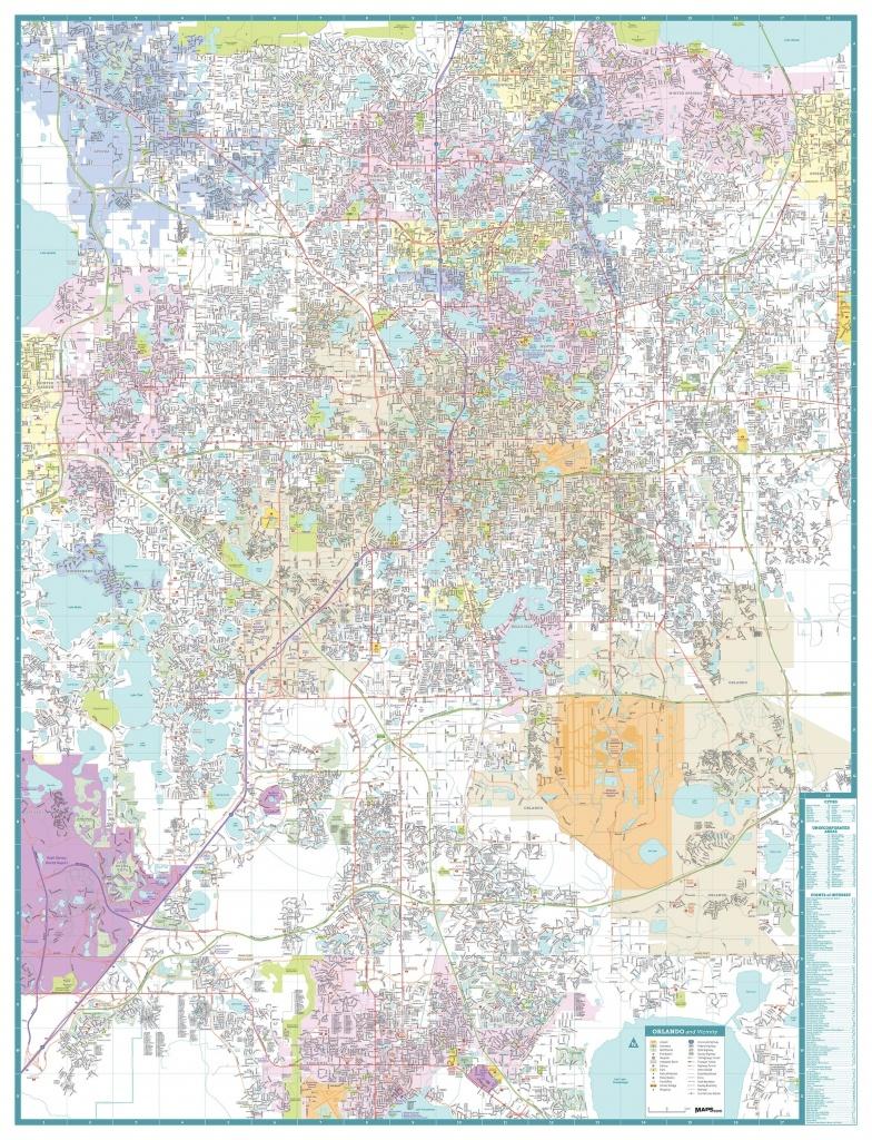 Orlando Florida City Map - Maps - Map Of Orlando Florida Area