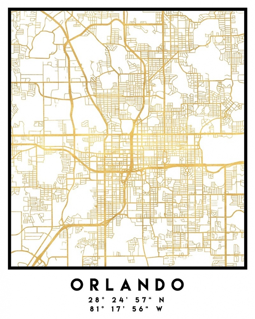 "Orlando Florida City Street Map Art""deificusart 