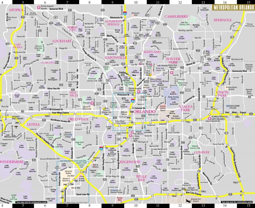 Orlando Florida Map - Map Of Orlando Florida Area (Florida - Usa) - Map Of Orlando Florida Area
