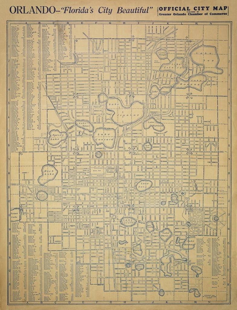 Orlando, Florida Street Map, 1936 | A Street Map Of Orlando,… | Flickr - Florida Street Map