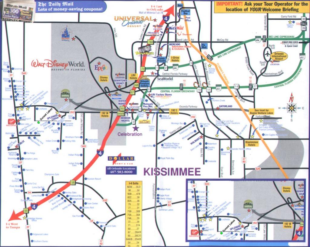 Orlando Florida Street Map And Travel Information | Download Free - Road Map Of Orlando Florida