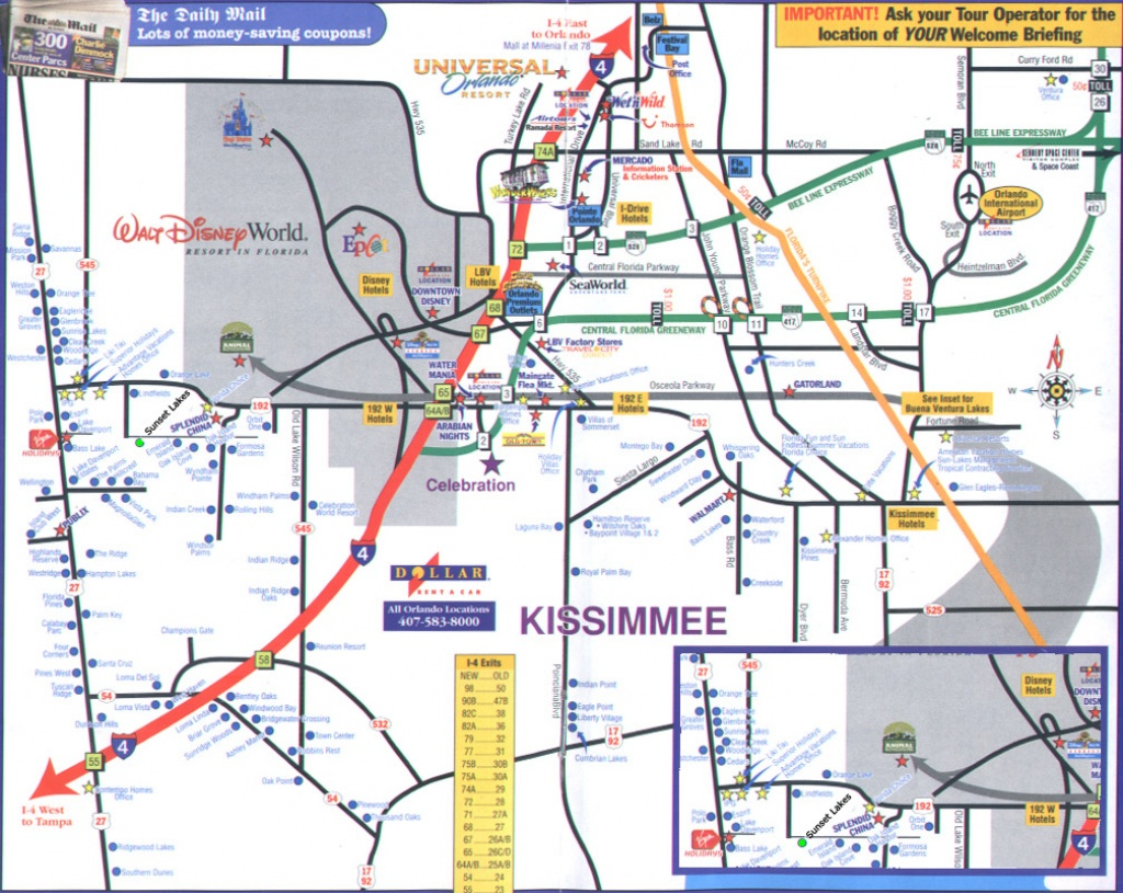 Orlando Florida Street Map And Travel Information | Download Free - Road Map To Orlando Florida