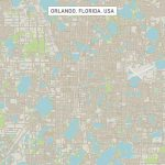 Orlando Florida Us City Street Map Digital Artfrank Ramspott   Street Map Of Orlando Florida