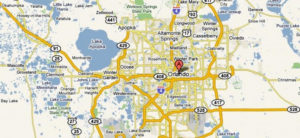 Orlando, Florida – Usa   Travel Featured - Road Map To Orlando - Map Of Orlando Florida Area