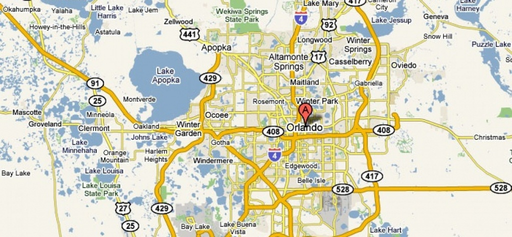 Orlando, Florida – Usa | Travel Featured - Road Map To Orlando - Road Map Of Central Florida