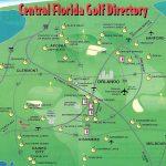 Orlando Golf Courses Map   Map Of Orlando Golf Courses (Florida   Usa)   Map Of Central Florida Golf Courses