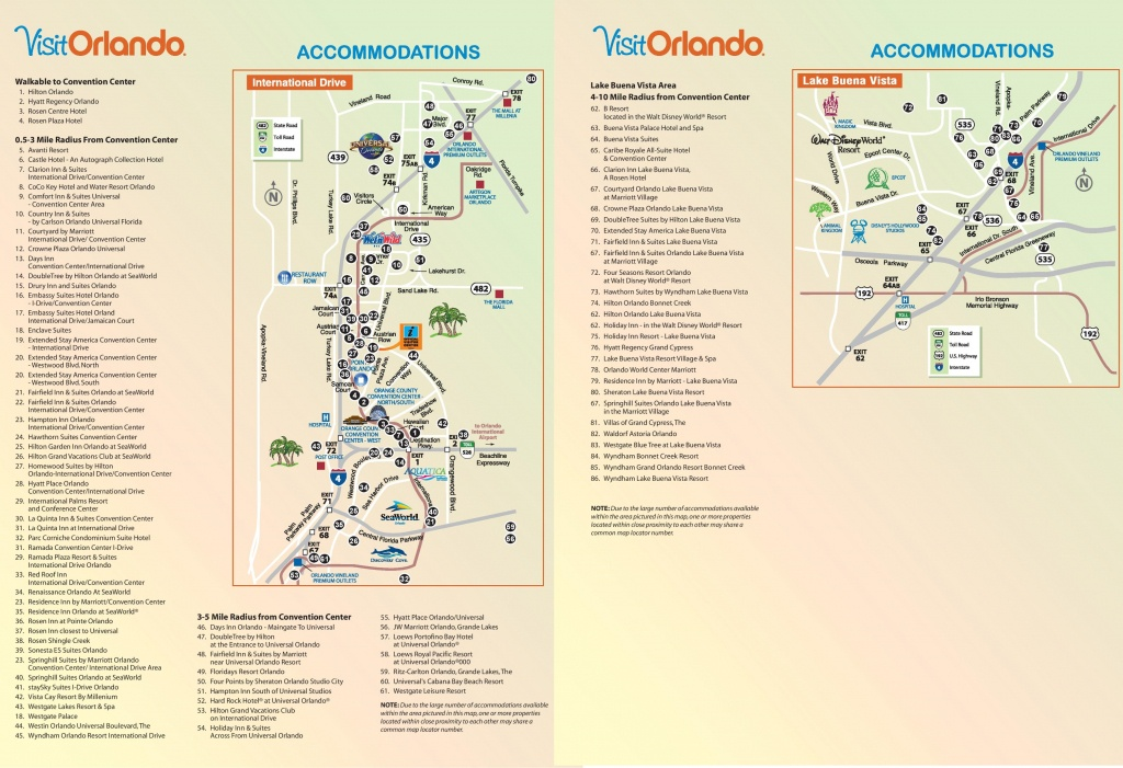 Orlando International Drive Hotel Map - Map Of Orlando Florida International Drive