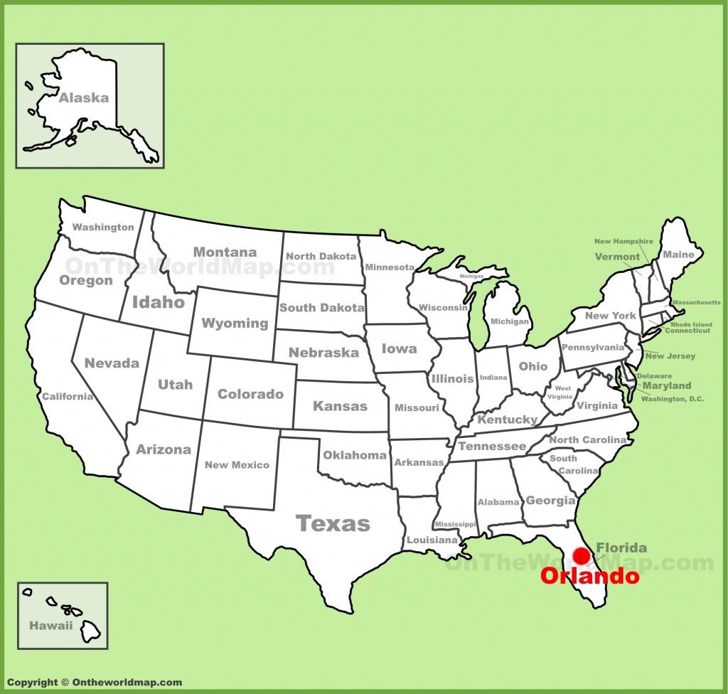 Orlando Maps | Florida, U.s. | Maps Of Orlando - Orlando Florida Attractions Map