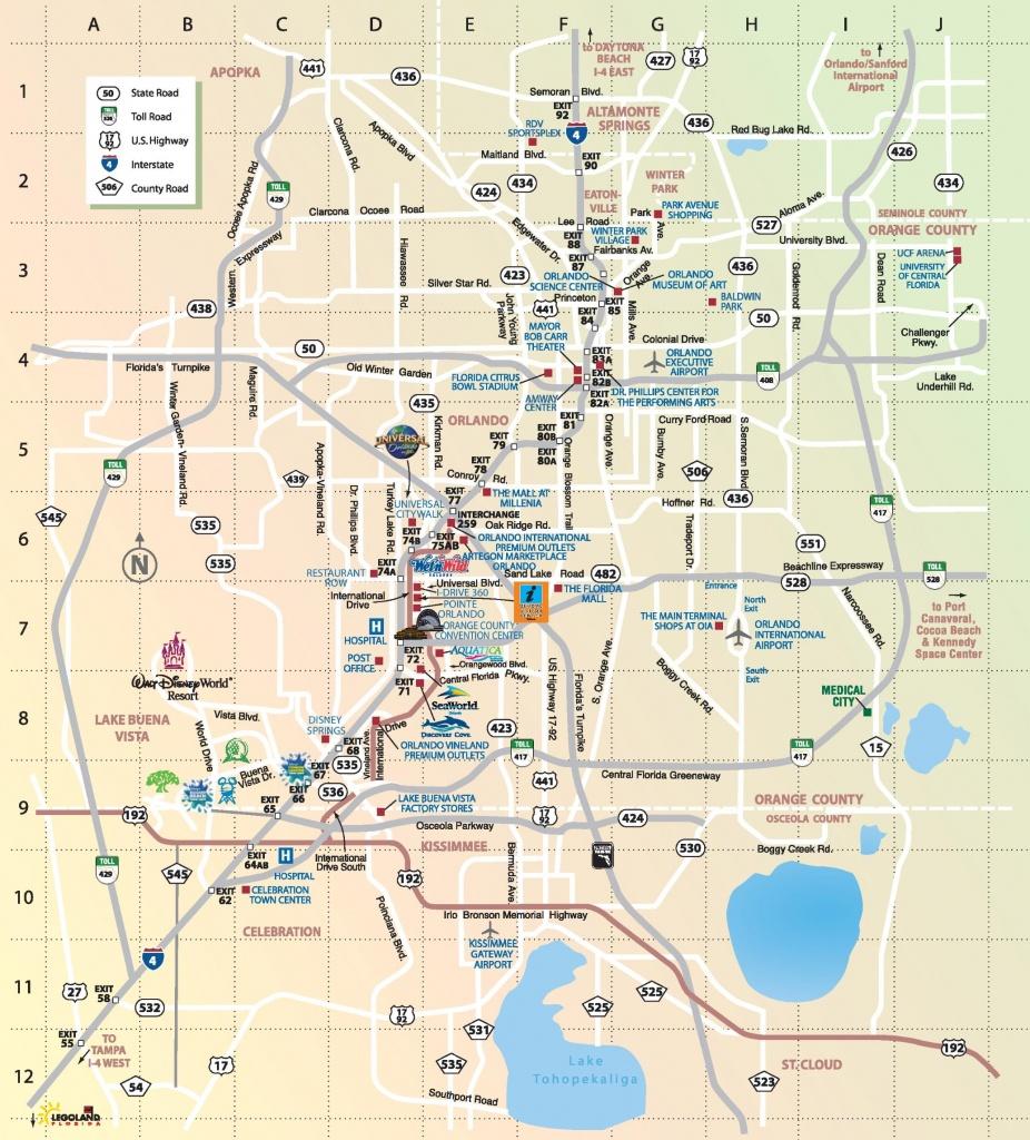 Orlando Maps | Florida, U.s. | Maps Of Orlando - Orlando Florida Parks Map