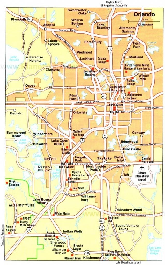 Orlando Maps | Florida, U.s. | Maps Of Orlando - Road Map To Orlando - Road Map Of Central Florida