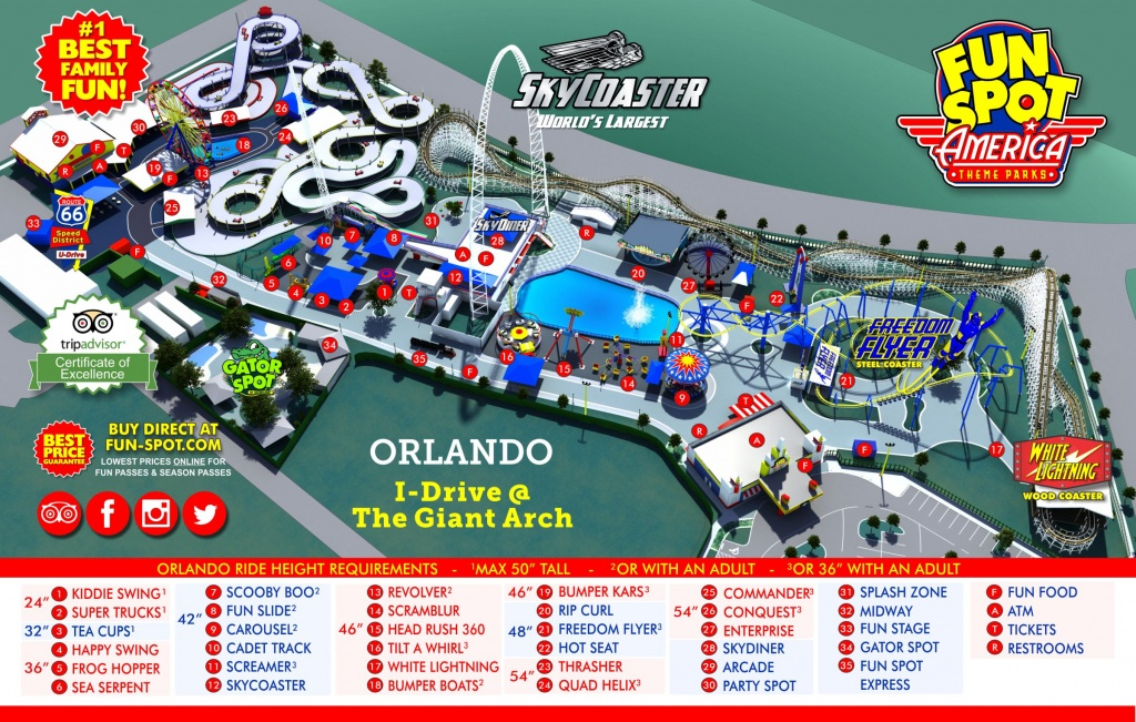 Orlando Park Map | Theme Park Map - Orlando Florida Parks Map