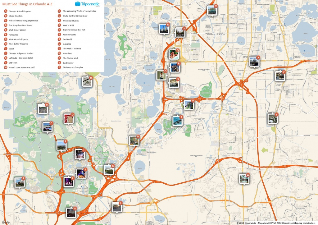 Orlando Printable Tourist Map In 2019 | Free Tourist Maps - Florida Attractions Map
