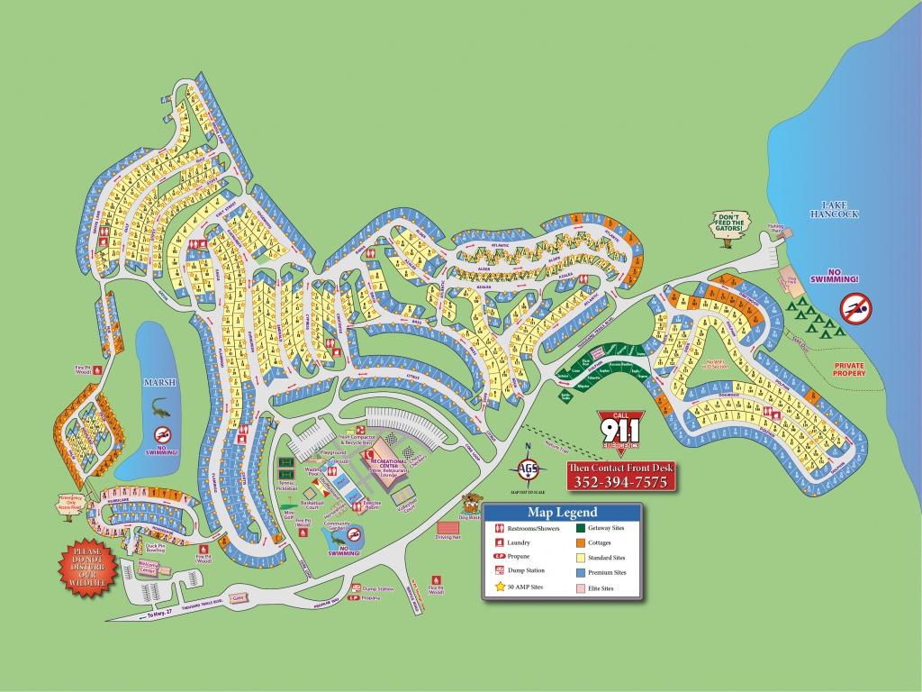 Orlando Rv Resort (Thousand Trails) - Clermont, Fl - Campground Reviews - Thousand Trails Florida Map