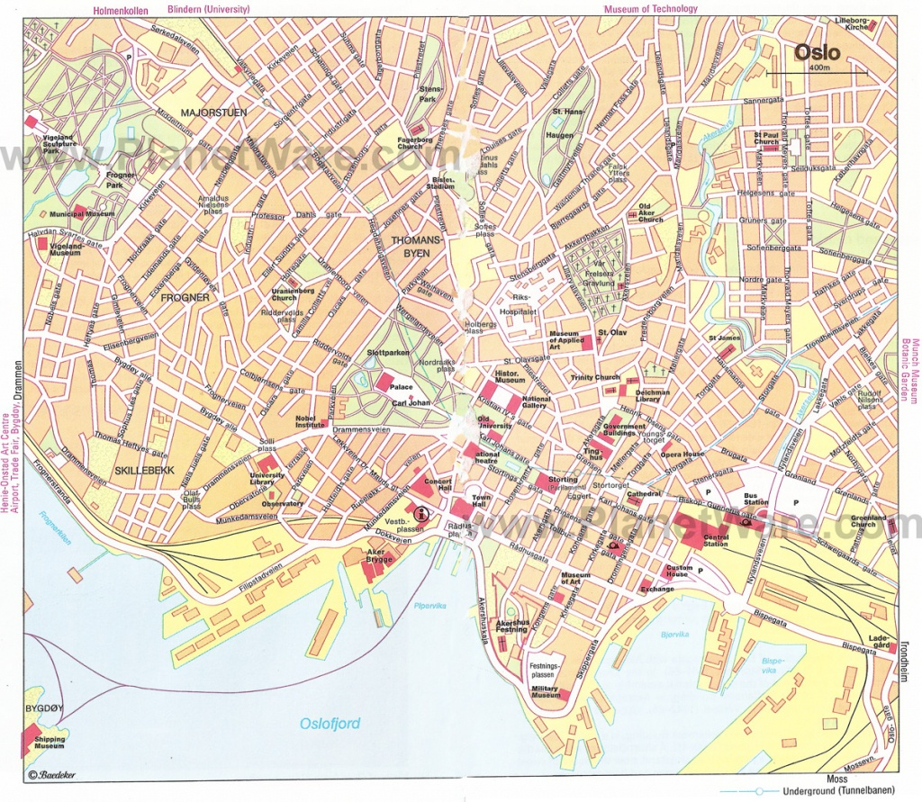 Oslo Map - Detailed City And Metro Maps Of Oslo For Download - Oslo Map Printable