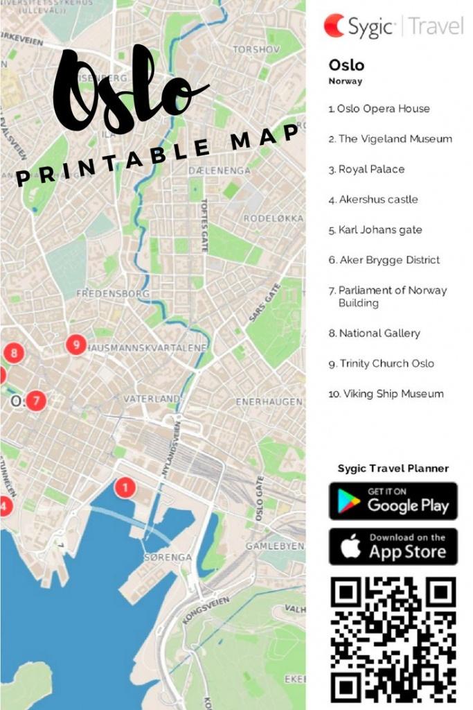 Oslo Printable Tourist Map In 2019   Free Tourist Maps ✈   Tourist - Oslo Map Printable