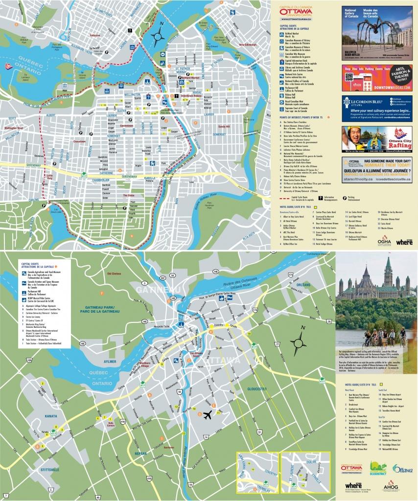 Ottawa Tourist Attractions Map - Printable Map Of Ottawa