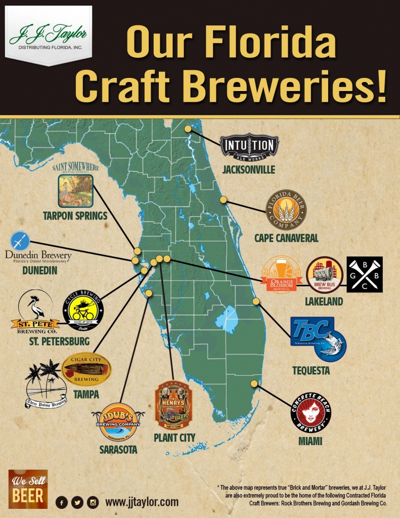 Our Fl Craft Breweries #drinklocal #flbeer | Our Brands In 2019 - Florida Brewery Map