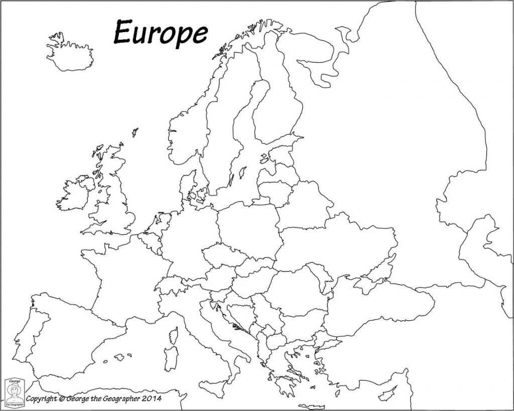 Outline Map Of Europe Political With Free Printable Maps And In - Printable Map Of Europe