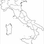 Outline Map Of Italy With Regions Coloring Page | Free Printable   Printable Blank Map Of Italy