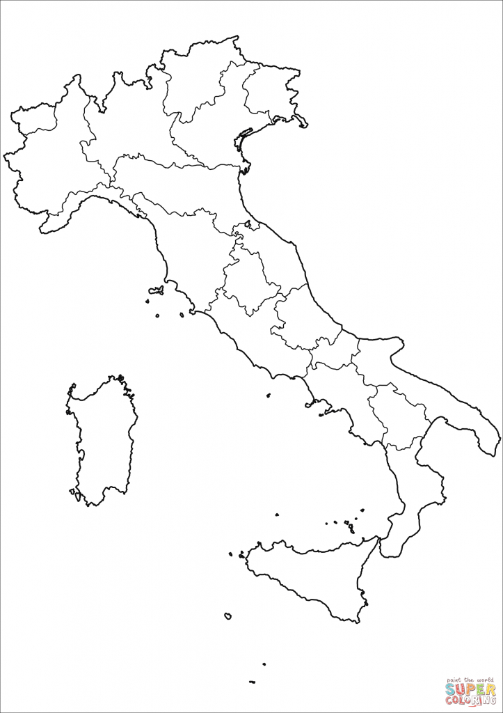 Printable Map Of Italy To Color