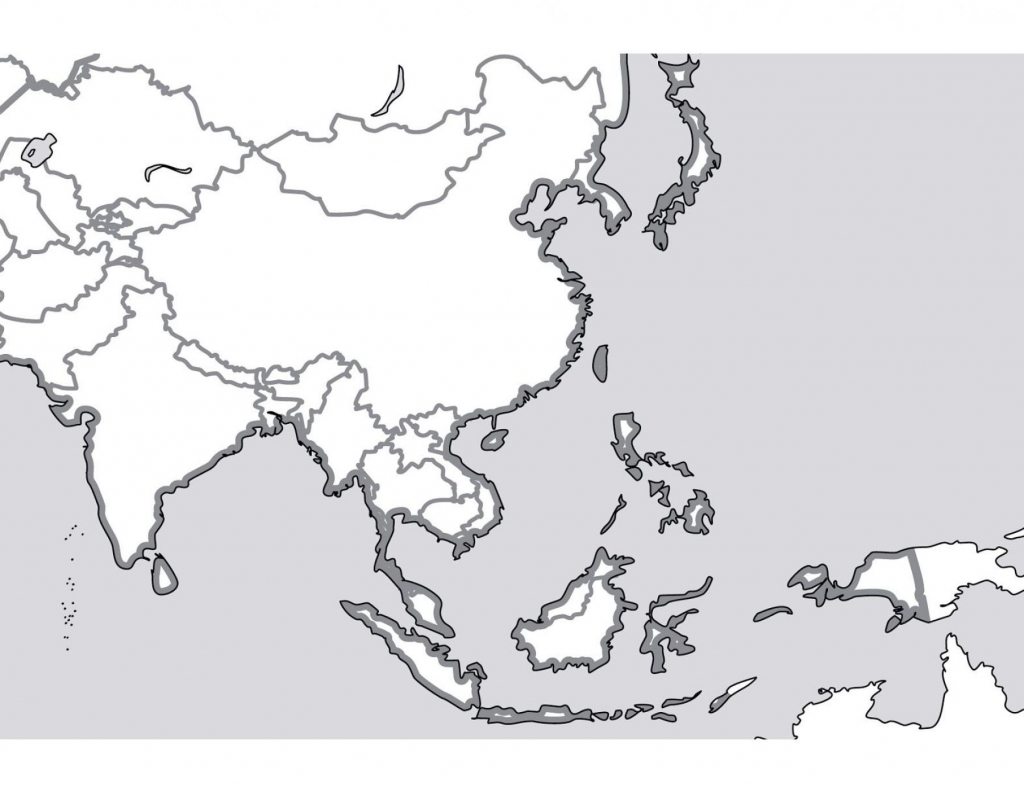 Outline Map Of South Asia New Printable Blank Southeast - Blank Outline Map Of Asia Printable