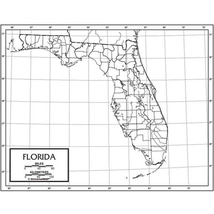 Florida Map Black And White