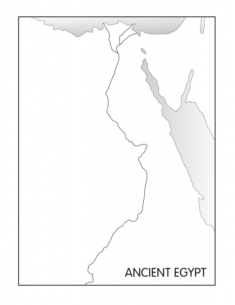 Outline Maps: Ancient Egypt And Greece   Social Studies   Egypt Map - Printable Map Of Egypt