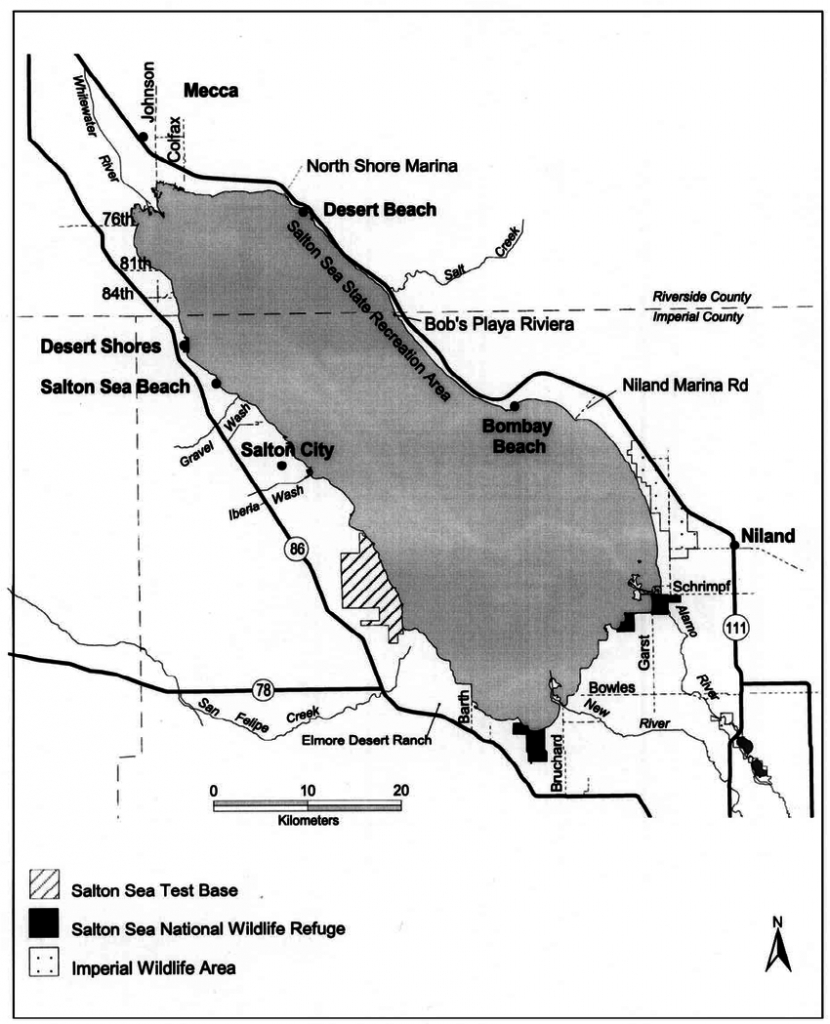Overview Map Of The Salton Sea, California, And Vicinity.   Download - Salton Sea California Map