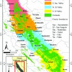 Overview Of California's Central Valley, Showing The Distribution Of   Chill Hours Map California