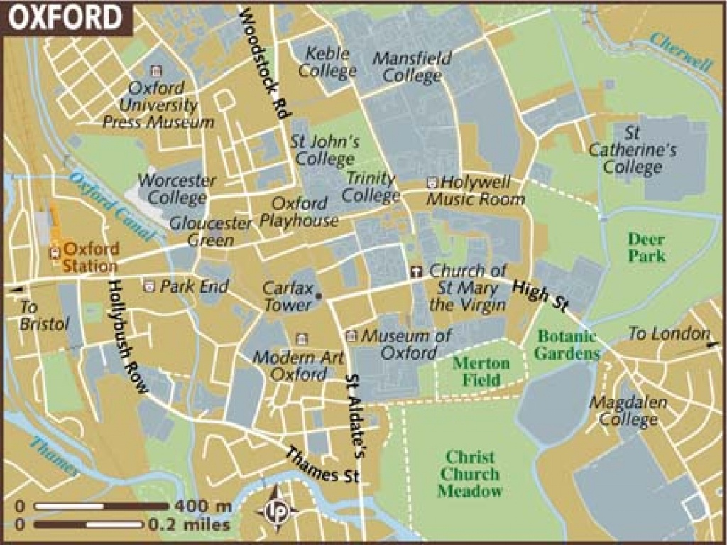Oxford Maps - Top Tourist Attractions - Free, Printable City Street Map - Free Printable City Street Maps