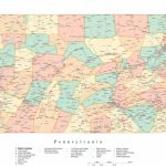 Pa Map With Cities And Counties And Travel Information   Download   Pa County Map Printable