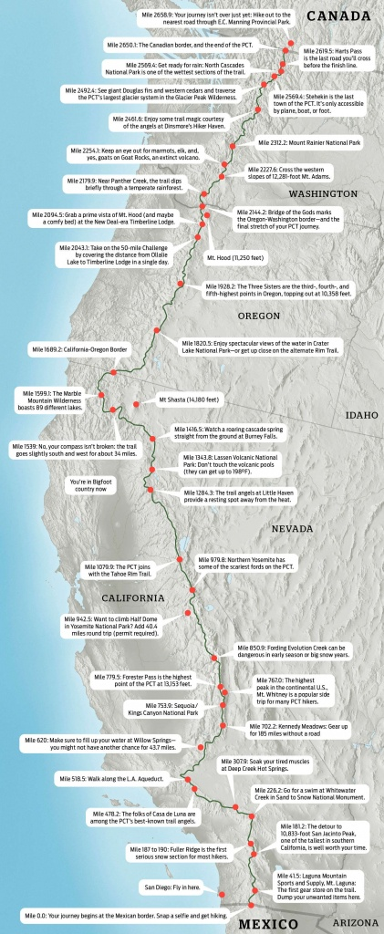 Pacific Crest Trail Map: Hike The Pct In 2019 | Backpacking | Trail - Pct Map California