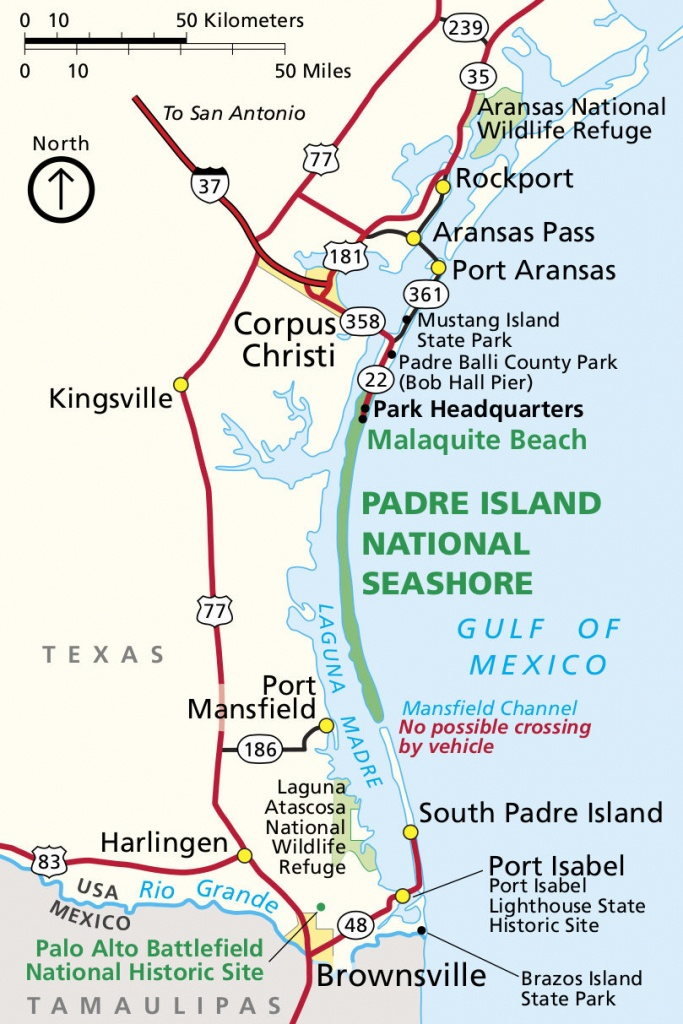 Padre Island Maps | Npmaps - Just Free Maps, Period. - Texas Padre Island Map