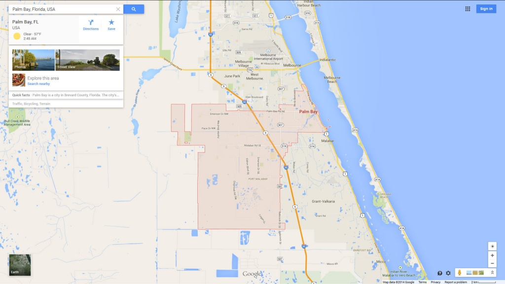 Palm Bay, Florida Map - Coconut Creek Florida Map
