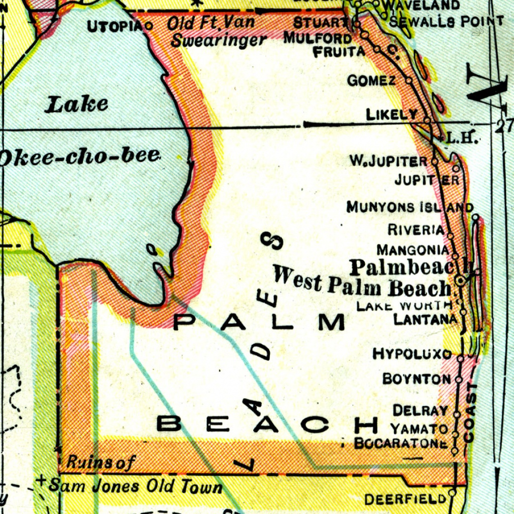 Palm Beach County, 1921 - Map Of West Palm Beach Florida Showing City Limits