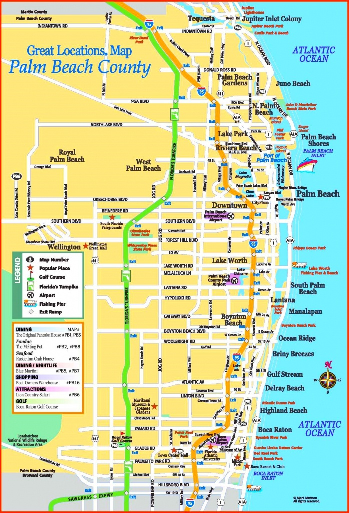 Palm Beach County Tourist Map - Map Of Palm Beach County Florida