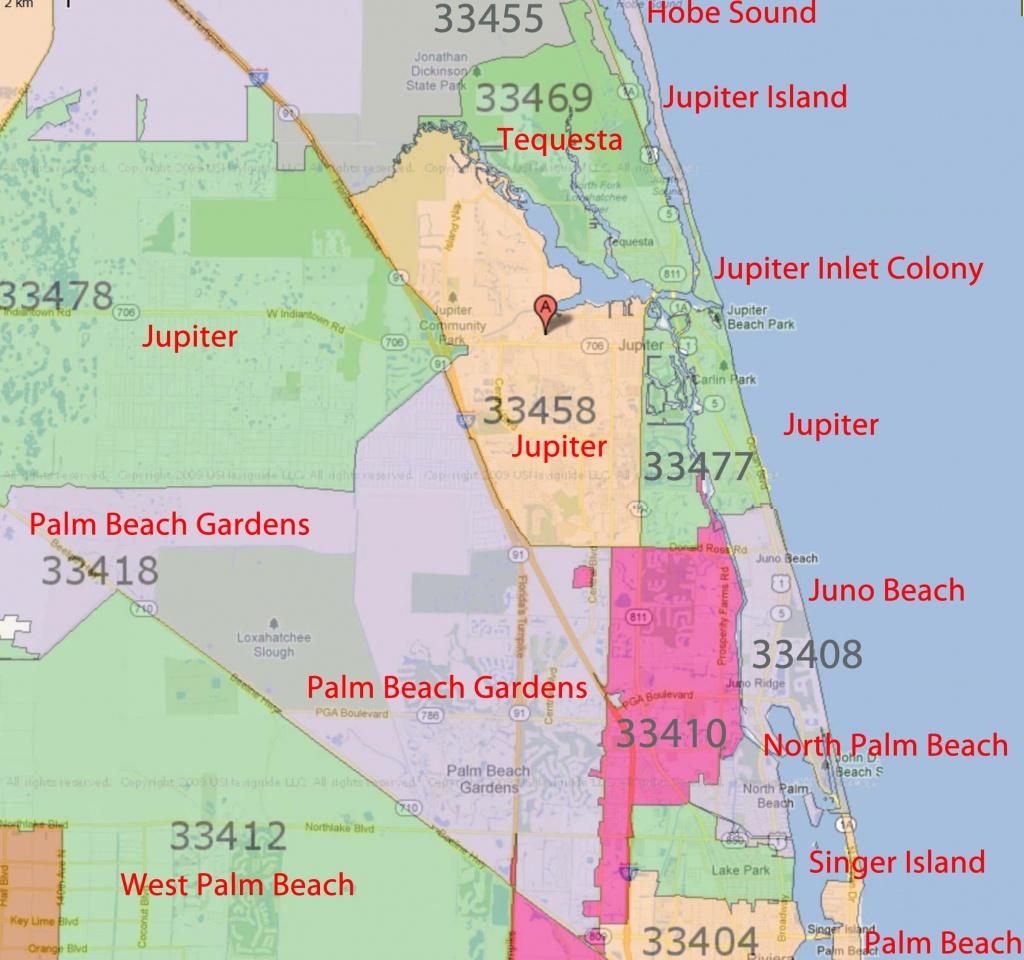 Palm Beach Gardens, Jupiter Florida Real Estatezip Code - Mls Listings Florida Map