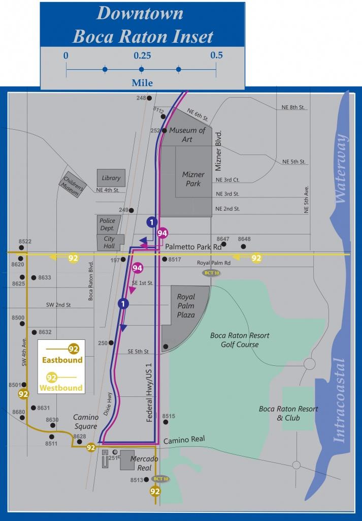 Palm Tran Bus Service - Map Of Palm Beach County Florida