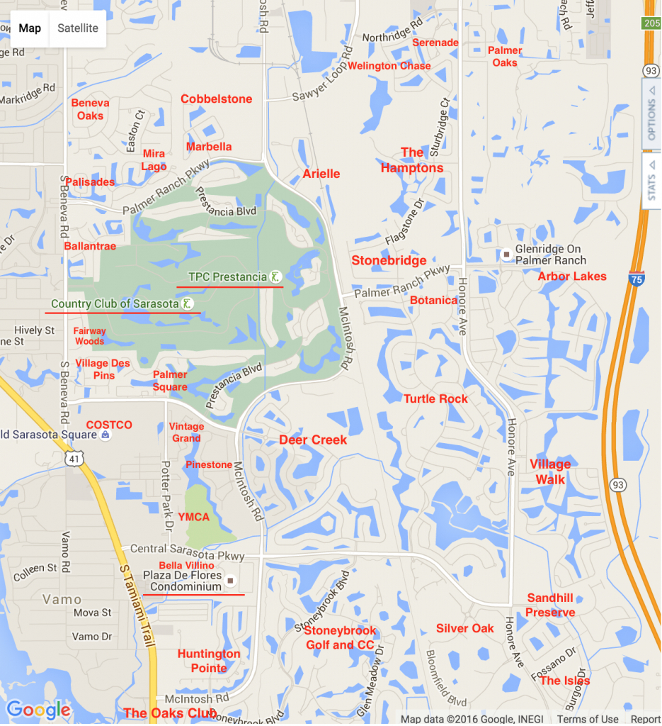 Palmer Ranch Map | Palmer Ranch Neighborhoods - Map Of Sarasota Florida Neighborhoods