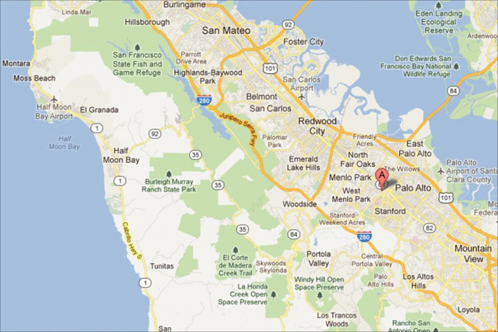 Palo Alto Ca Map | Map 2018 - Palo Alto California Map