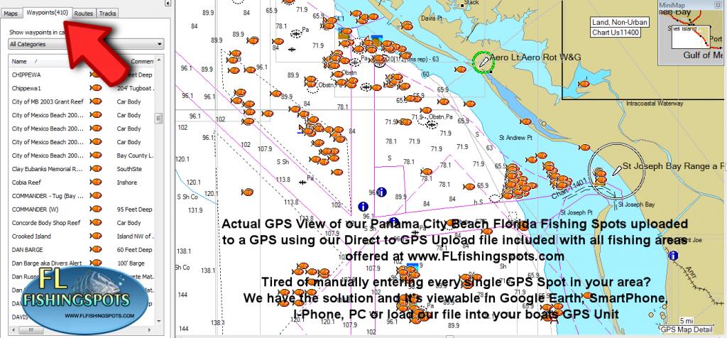 Panama City Florida Fishing Map   Fishing   Panama City Panama - Top Spot Fishing Maps Florida